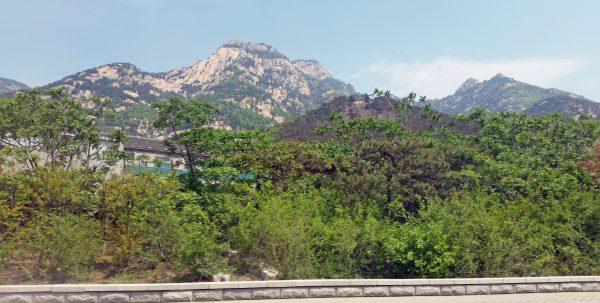 Aussicht vom Zug von Tai'an nach Peking