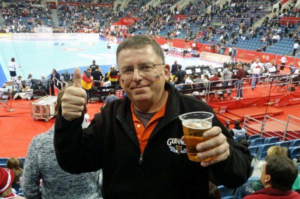 Zinni beim Handball Finale Deutschland - Spanien