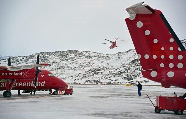 Air Greenland auf dem Flughafen von Kangerlussuaq