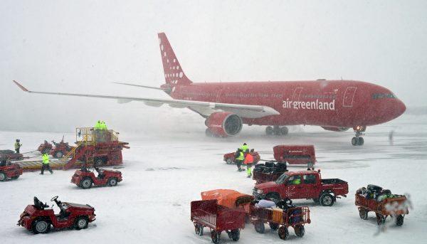 Der Airbus A330 'Norsaq' von Air Greenland in Kangerlussuaq