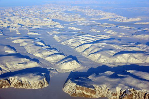 Flug über Nunavut / Kanada