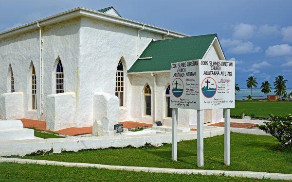 Eine Kirche in Aitutaki / Cook Inseln