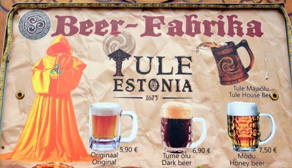 Bier in der Beer-Fabrika in Tallinn