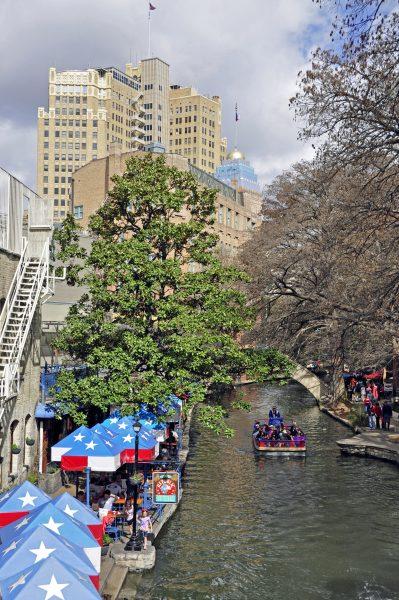 Der Riverwalk in San Antonio