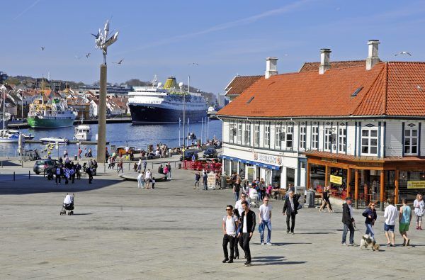 Die MS Azores im Hafen von Stavanger