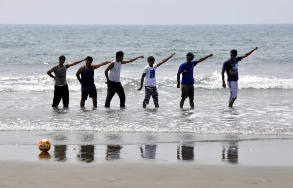 Bollywood an der Vagator Beach, Goa