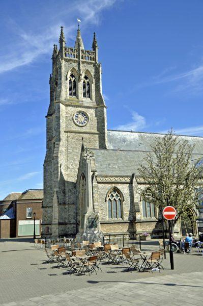 Auf der Isle of Wight (die Kirche von Newport)