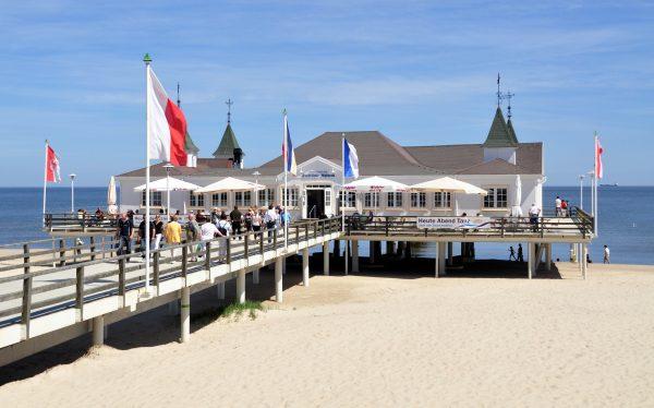 Der Seebrücke Pavillon in Ahlbeck auf Usedom