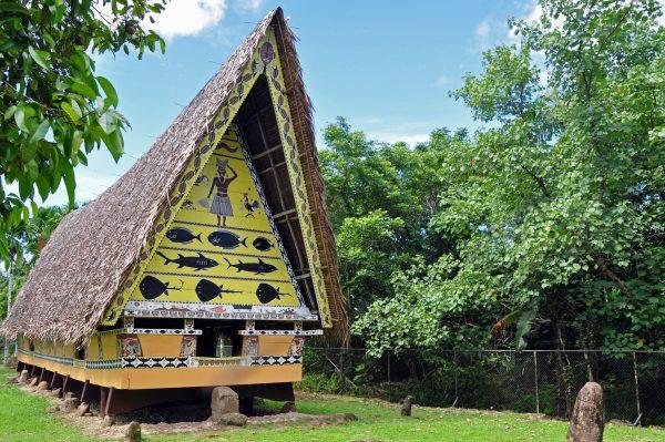 Ein Männerhaus auf Palau
