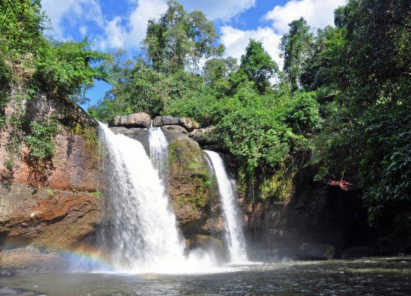 Der Haew Suwat Wasserfall im Nationalpark Khao Yai, Drehort von 'The Beach'