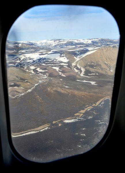 Kurz vor der Landung auf dem Constable Point Airport