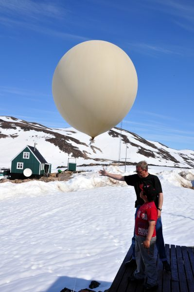 Der Wetterballon wird gestartet