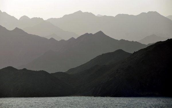 Blick auf die Berge vom Oman