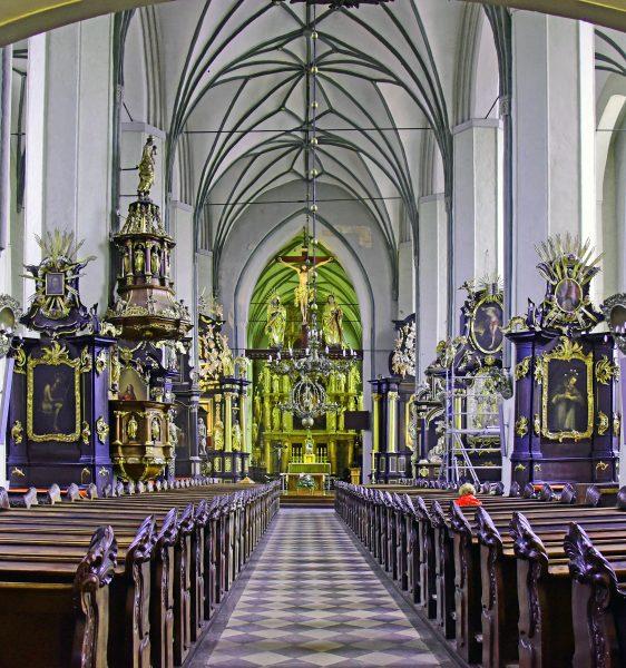 Die Nikolaikirche in Danzig