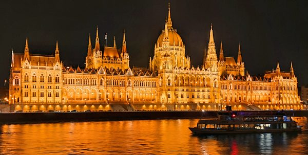 Das Parlamentsgebäude in Budapest