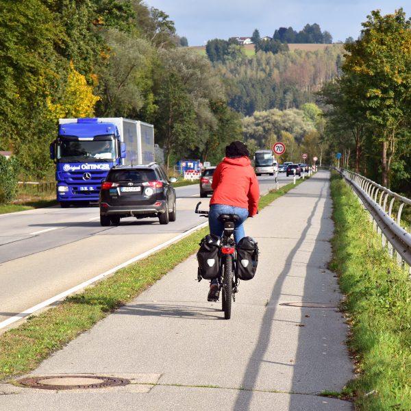 Die B130 von Passau nach Österreich