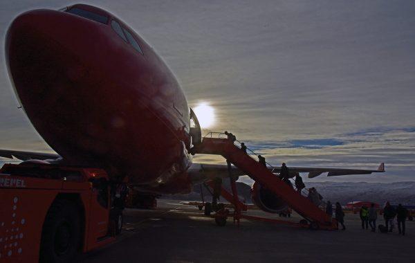 Air Greenland A330, Flughafen Kangerlussuaq