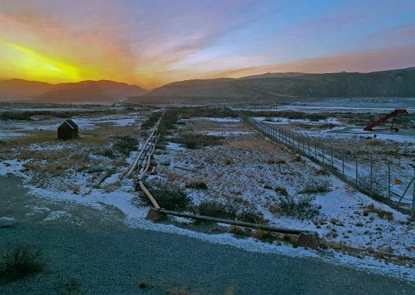 Sonnenaufgang, Flughafen Kangerlussuaq