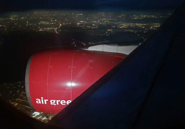 Anflug auf den Flughafen Kopenhagen