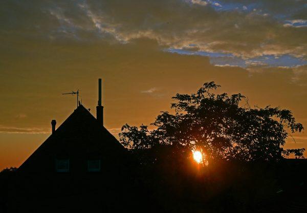 Sonnenaufgang im Rhein-Main Gebiet