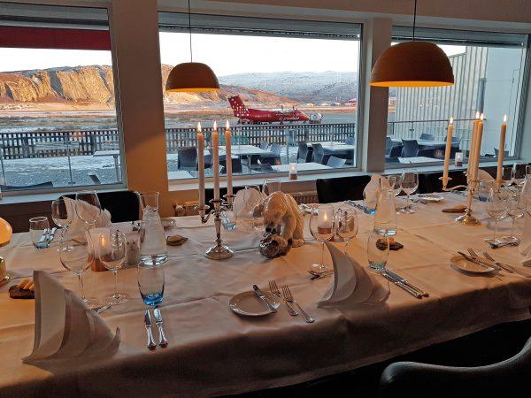 Das Restaurant im Flughafen Kangerlussuaq