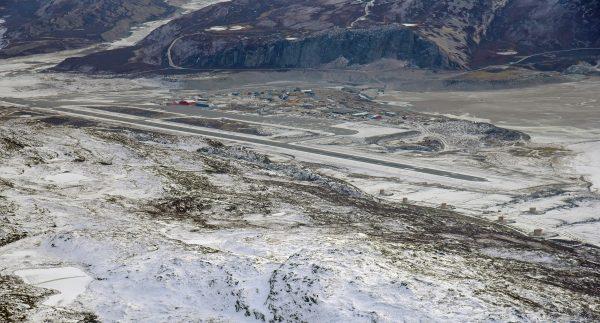 Blick auf den Flughafen Kangerlussuaq