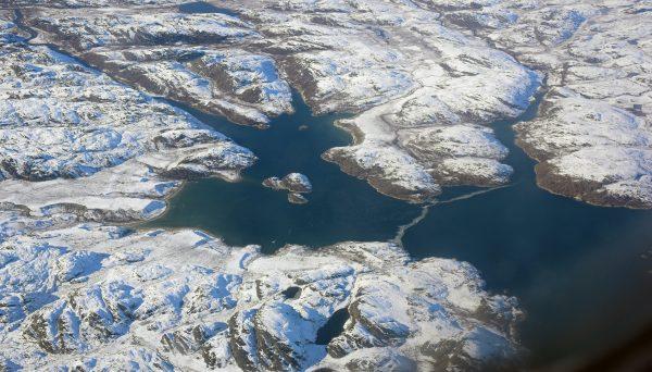Auf dem Flug von Nuuk nach Kangerlussuaq
