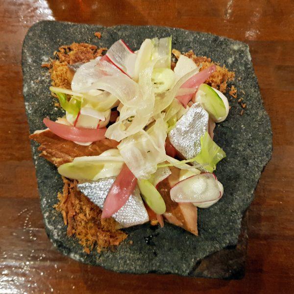 Forelle auf dreierlei Art, Restaurant 'Kalaaliaraq', Nuuk