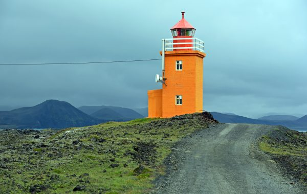 Der Leuchtturm Hópsnesviti in Grundavik