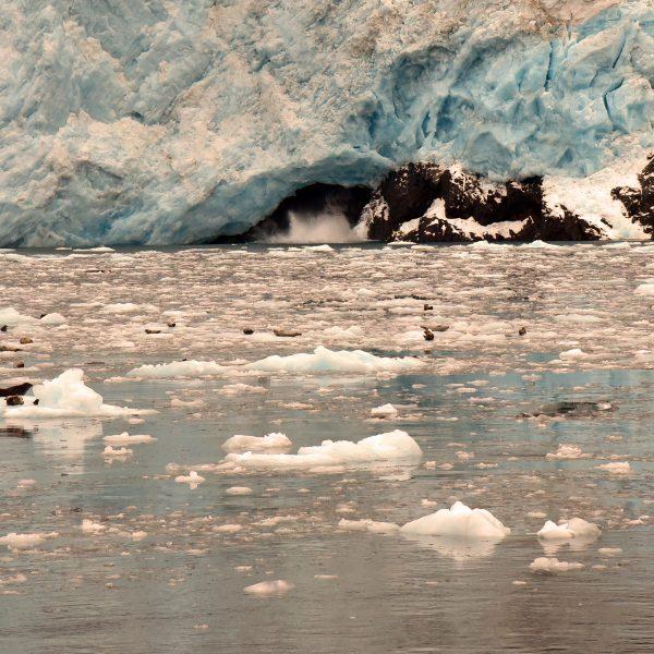Der Aialik-Gletscher im Kenai-Fjords-Nationalpark
