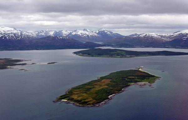 Berge vor Tromsø
