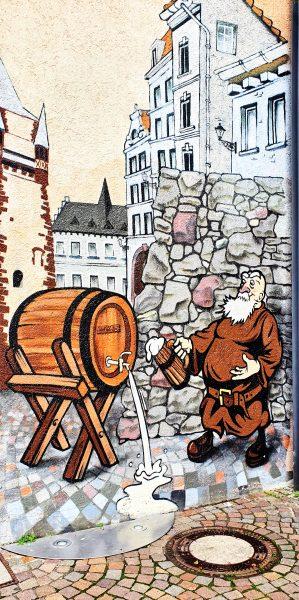 Eine Wandbemalung in Freiburg