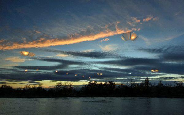 UFO Alarm über dem Rhein