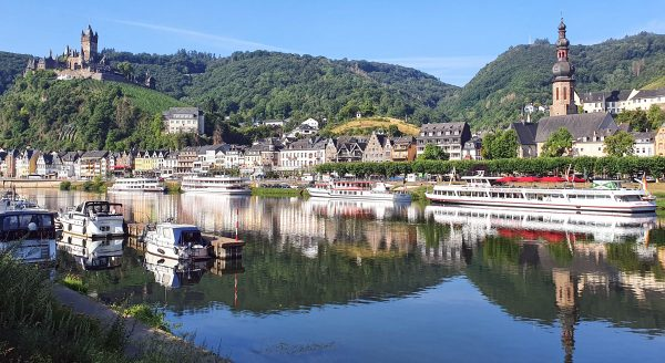 Blick auf Cochem und die Reichsburg