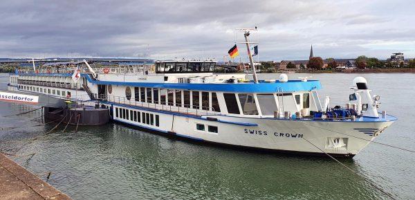Die MS Swiss Crown in Mainz