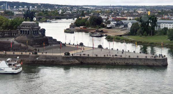 Blick auf das deutsche Eck in Koblenz