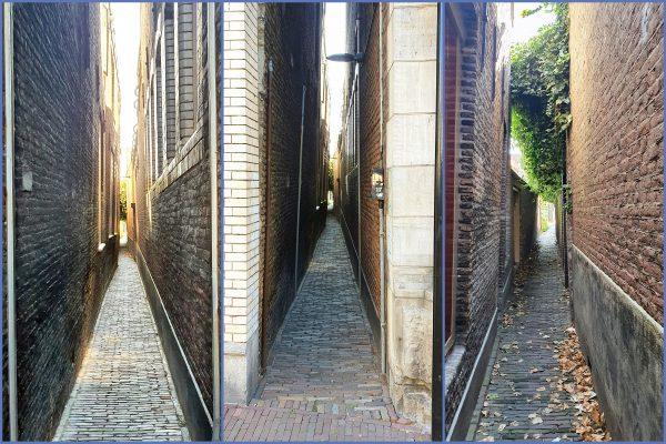 Eine enge Gasse in Dordrecht