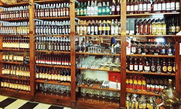 Der Verkaufsraum der Distilleerderij Rutte in Dordrecht