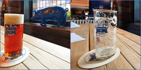 Ein schnelles Bier in der 'Brauerei Schumacher' in Düsseldorf