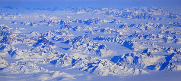 Auf dem Flug von Kopenhagen nach Kangerlussuaq
