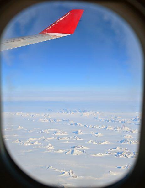 Auf dem Air Greenland Flug von Kopenhagen nach Kangerlussuaq