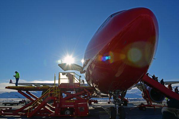 Air Greenland A330 in Kangerlussuaq