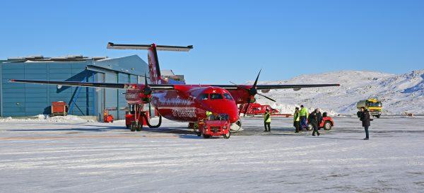 Air Greenland auf dem Airport Ilulissat