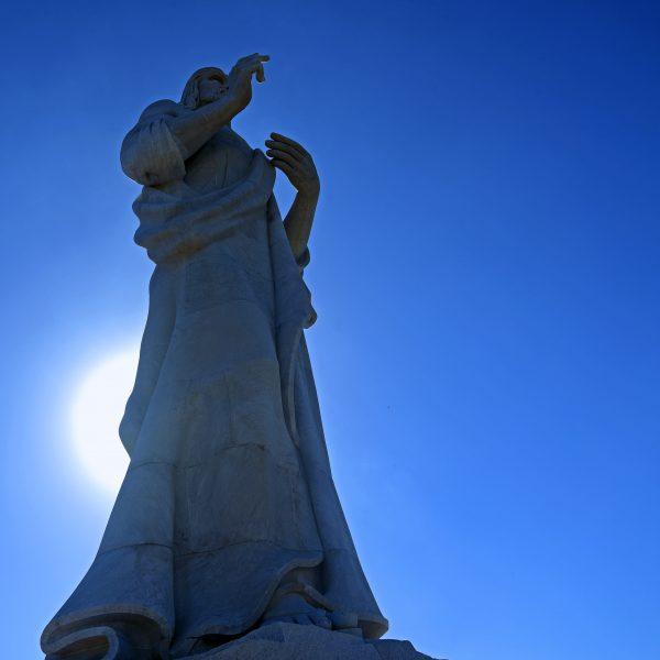 Die Statue 'El Cristo De La Habana' in Havanna