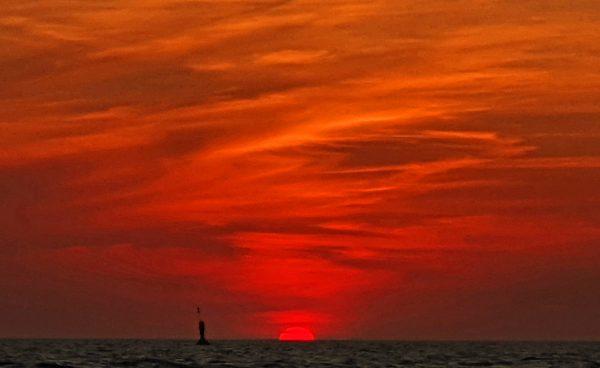 Ein Sonnenuntergang auf Helgoland