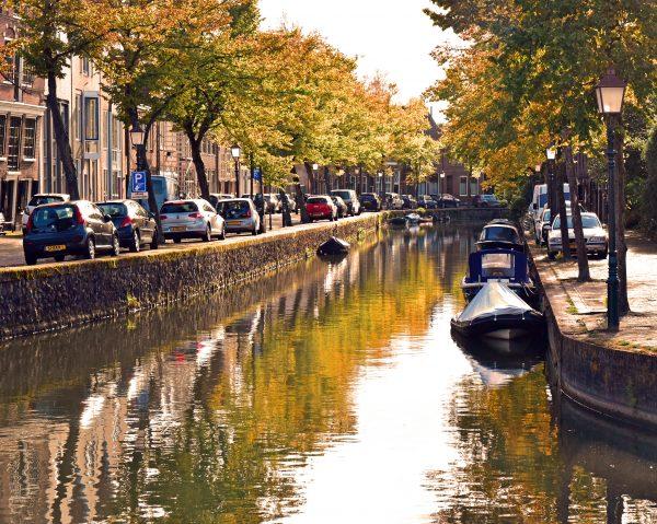 Ein Kanal in Hoorn