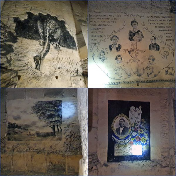 Zeichnungen in den Grotten von St. Pieter