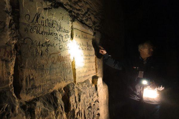 Aufschriften in den Grotten von St. Pieter