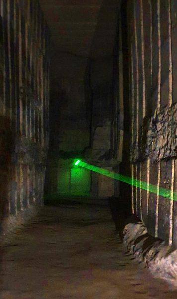 Licht in den Grotten von St. Pieter