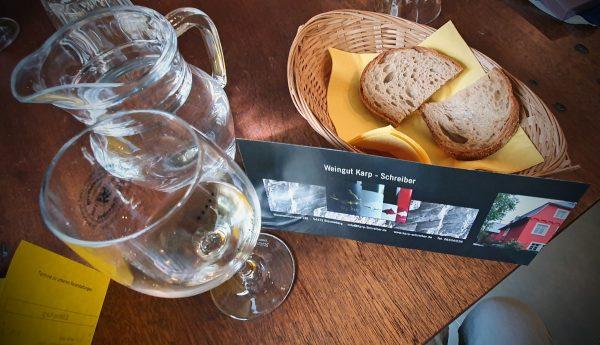 Weinprobe im Weingut Karp-Schreiber